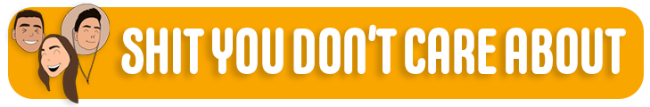 Logo for Shit You Don't Care About Podcast
